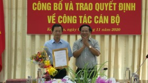 TRAO QUYET DINH VE CONG TAC CAN BO